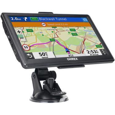 Imagem de Navegação GPS para caminhões e rv e carro, sistema de navegação GPS OHREX de 7 polegadas, GPS para caminhoneiros comerciais, mapas de 2021 com atualização de vida livre, direções viradas faladas, alertas de motorista