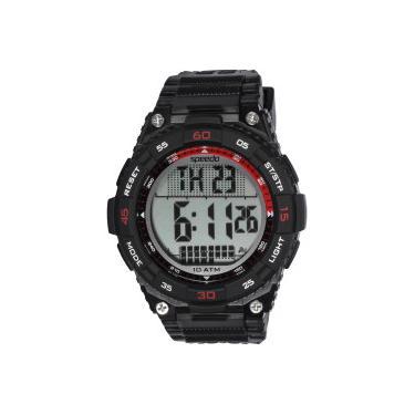 0b9ff1f1cec Relógio Digital Speedo 80611G0 - Masculino - PRETO VERMELHO Speedo