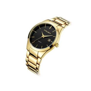 385291d71b9 Relógio Amuda Casual Masculino Modelo Am2001 Ouro