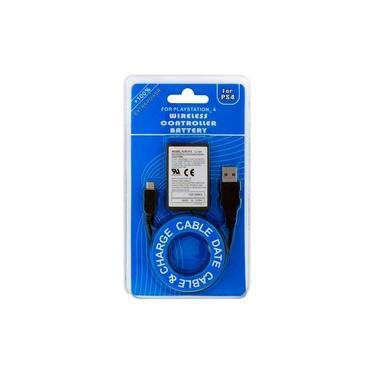 Kit Bateria P/ Controle Playstation 4 Ps4 2000mah + Cabo Usb