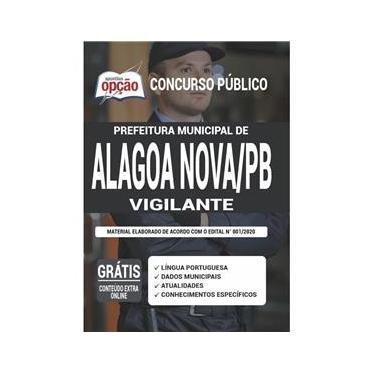 Imagem de Apostila Prefeitura Alagoa Nova Pb - Vigilante