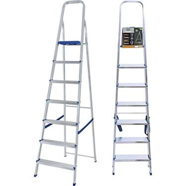 Escada Alumínio 7 Degraus - 5105, Mor