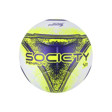Bola Society Penalty S11 R3 Ultra Fusion VIII - BRANCO AMARELO Penalty 7397406376356