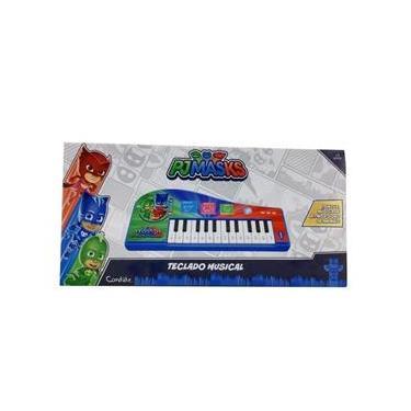 Imagem de Brinquedo Teclado Piano Musical Pjmasks Infantil - Candide