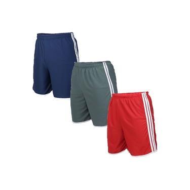 Kit 3 Shorts Masculinos Esporte Sport Futebol Fitness Calção