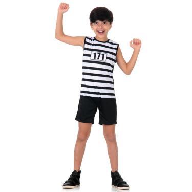 Imagem de Fantasia Presidiario Infantil Super Pop M