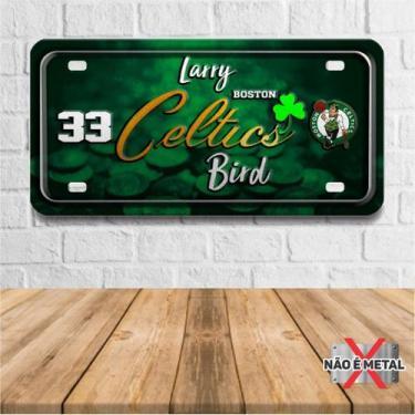 Imagem de Placa De Carro Decorativa Tema Nba -  Boston Celtics Bird Pdc-042 - Pl