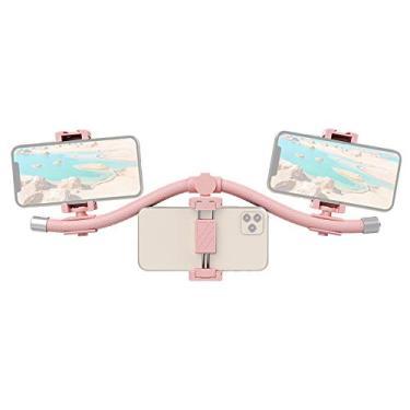 Adaskala Multifuncional e flexível suporte para streaming de mídia em tempo real, suporte para smartphones e suporte para iluminação com 3 suportes para telefones celulares
