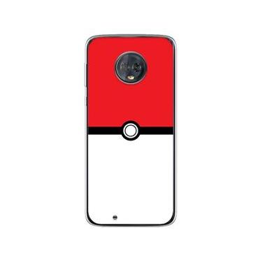Capa para Moto G6 Plus - Pokeball Flat