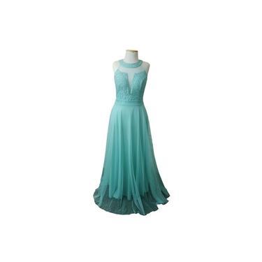 Vestido de Festa Verde Tiffany - Madrinha, Casamento