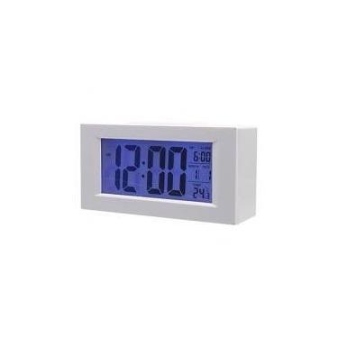 Imagem de Relógio de Mesa Digital com Dígitos Grandes e Despertador Branco 820 - Oskn