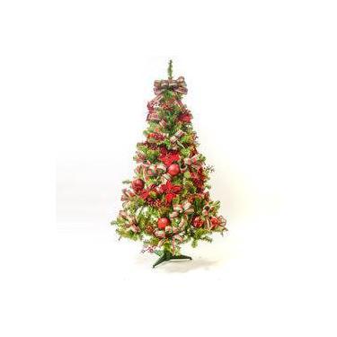 Árvore De Natal Decorada 350 Hastes 1,5m C/54 Enfeites