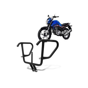 Protetor De Carenagem Reforçado Honda Cg 160 Fan Titan Start 2016 A 2019 Mata Cachorro Shutt Preto