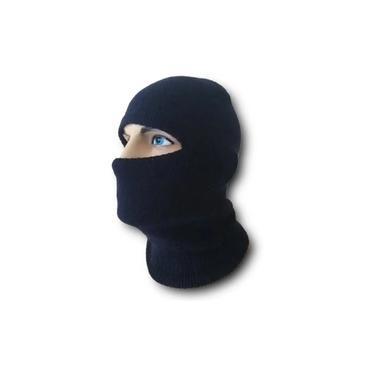 Touca Balaclava Lã Preta Ninja Motoqueiro Frio Tamanho Único