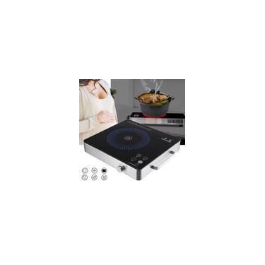 Imagem de Fogão elétrico portátil da bancada do queimador elétrico da cozinha de Cooktop do fogão de indução 2200W