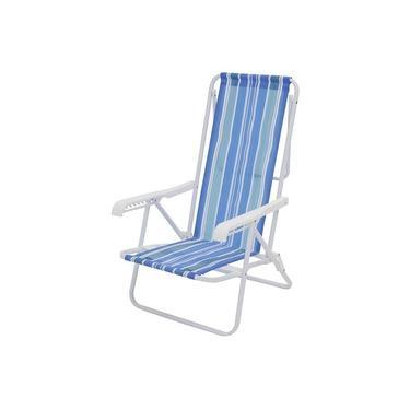 Cadeira Praia de Aço Reclinável 8 Posições Mor