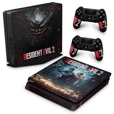 Skin Adesivo para PS4 Slim - Resident Evil 2 Remake