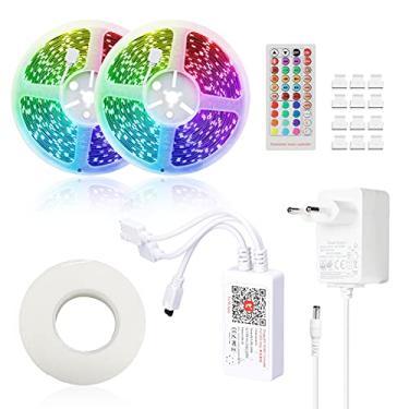 Imagem de Daseey Tuya S mart L ife LED Strips Light Controlador wi-fi inteligente para RGB LED Strips Light Controles remotos de voz Luz colorida com tiras compatível com Amazon alexa, Google home
