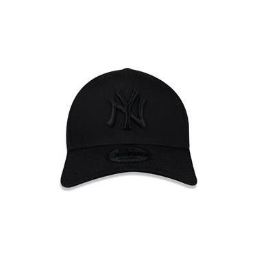 Boné New Era 9Forty New York Yankees Blackout Snapback Curvo