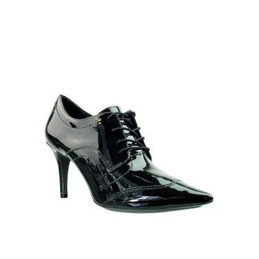 Ankle Boot Feminina Jorge Bischoff Verniz