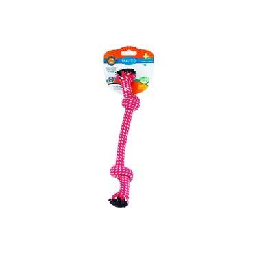 Brinquedo Mordedor Para Cães Rope Nó Rosa - Chalesco