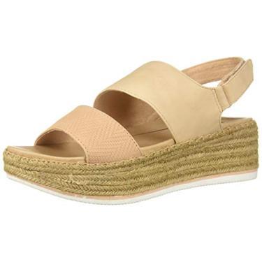 Sandália feminina Dr. Scholl's Shoes Cool Vibes Espadrille Wedge, Vida Pink Altitude Print, 7.5