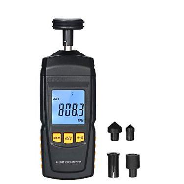 Tacômetro Digital Handheld Contato Motor Tacômetro LCD Velocímetro Tac RPM Teste Elétrica Máquina de Rotação de Medidor de Velocidade para a Tomada de Carro de Motor