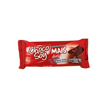 Imagem de Wafer coberto com chocolate chocosoy mais tipo bis Diet Olvebra 62g