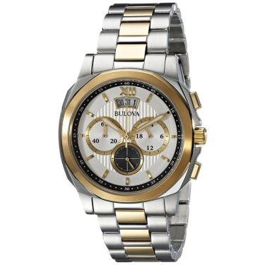 e6598da7a39 Relógio Masculino Bulova Analógico WB30865S - Prata Dourado