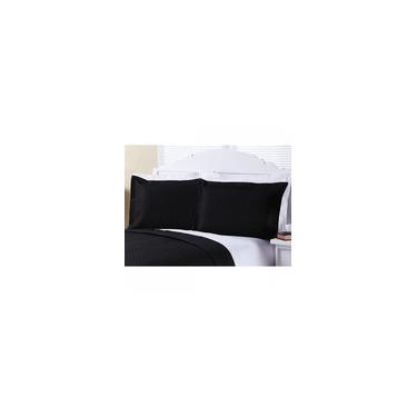 Imagem de Porta Travesseiro 2 peças Enxovais Aquarela Preto
