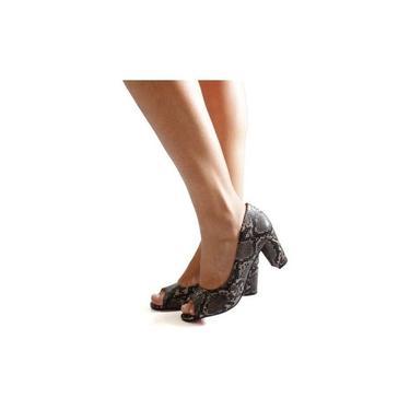 Sapato Social Aberto Na Frente Estampa Cobra