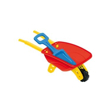 Imagem de Carrinho De Mão Com Pá Carriola Brinquedo De Praia Infantil