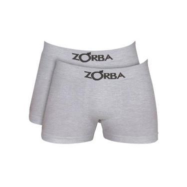 Imagem de Kit Com 10 Cuecas Boxer Algodão Sem Costura Zorba 781 CINZA
