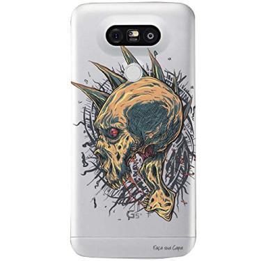 Capa Transparente Personalizada para LG G5/G5 SE Caveira - TP18