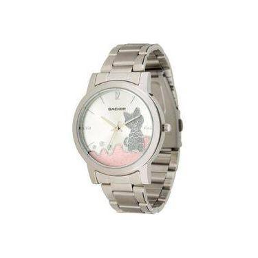 1f5926493b7 Relógio Backer Feminino Hannover Cat Prata 3324123f Cz