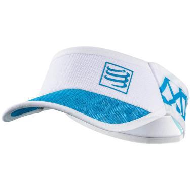 Viseira Compressport Ultralight SPIDERWEB - Branco / Azul