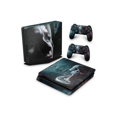 Skin Adesivo para PS4 Slim - Until Dawn