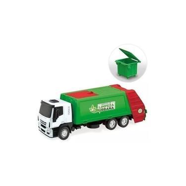 Imagem de Brinquedo de Caminhão Menino Iveco Hi Way Coletor Lixo Usual