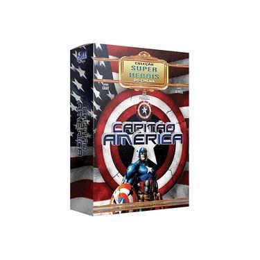 Imagem de Box Capitão América Coleção Super Heróis Do Cinema 02 Dvds