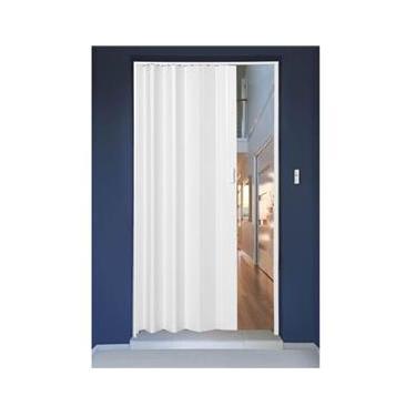 Porta Sanfonada PVC Polifort 210cmx70cm Branco Neve