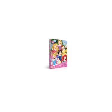 Imagem de Quebra Cabeça 100 peças, Metalizado Disney Princesas - Jak