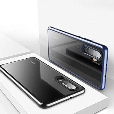 Capa Capinha Huawei P30 Pro Rock Clarity Case Original Transparente (Preto)