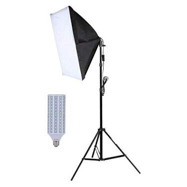 Kit Iluminação Estúdio LED 60W Softbox 60x60cm com Tripé