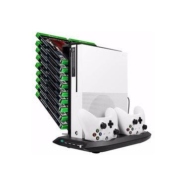 Suporte Base Vertical Porta jogos Xbox One S Cooler 4 Usb