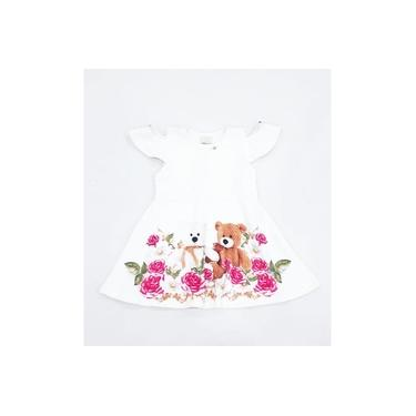 Vestido Ursos Menina Creme Timekids Infantil 6226