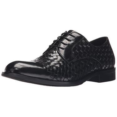 ZANZARA Beethoven sapato Oxford masculino casual, Preto, 11.5