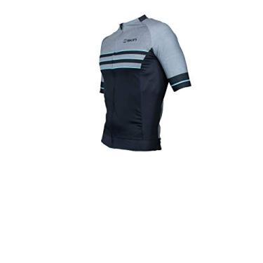 Camisa Ciclismo Uniforme Oggi Skin Manga Curta Woom Supreme (Preta Cinza Skin, P)