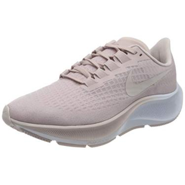 Tênis de corrida feminino Nike Air Zoom Pegasus 37, Champagne/Barely Rose-white, 7