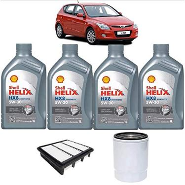 Troca Óleo Filtro Ar Motor Hyundai I30 2.0 16v Shell 5w30
