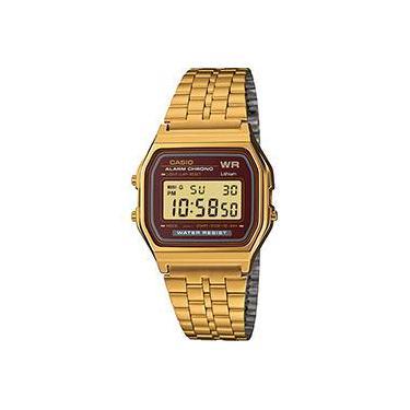 1e830eb2e4a Relógio Feminino Casio Digital Vintage A159WGEA-5DF